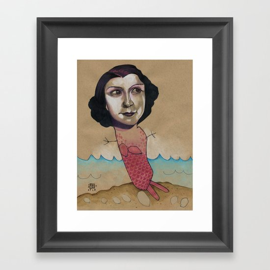 PINK MERMAID Framed Art Print