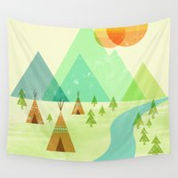 native Wall Tapestries featuring Native Lands by Jenny Tiffany
