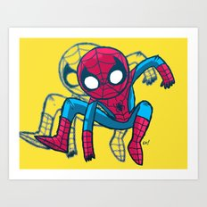 Does whatever a spider can! Art Print