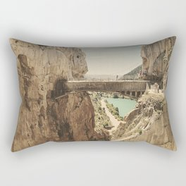"""The most dangerous trail in the world"". El Caminito del Rey Rectangular Pillow"