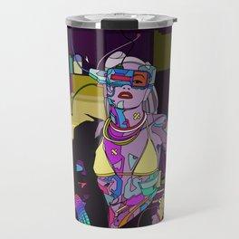 Gen Stefani 80s Cyberpunk singer Travel Mug