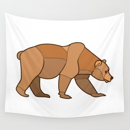 Shapely Brown Bear Wall Tapestry