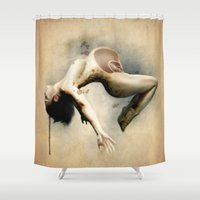 mom Shower Curtains featuring Mom by Subcon