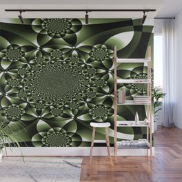 Green Forest Leaf Petals Wall Mural