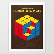 No775 My The Pursuit of Happyness minimal movie poster Art Print