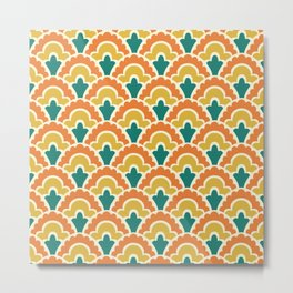 Fan Pattern 101 Metal Print