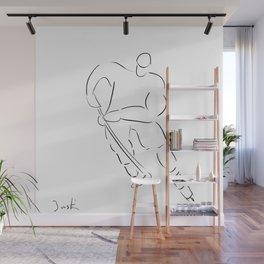 Hockey-minimalist-caricature Wall Mural