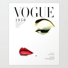 Fashion Print Gift Women Vogue Print Vogue Cover vogue cover 1950 Fashionista Fashion Decor Wall art Art Print
