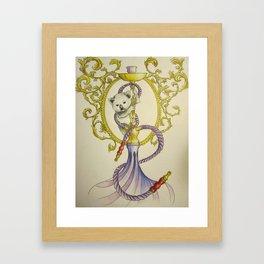 Hookah Koala Framed Art Print