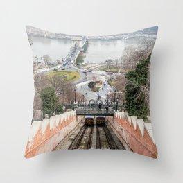 Funicular. Throw Pillow