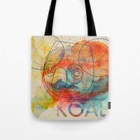 koala Tote Bags featuring Koala by Alvaro Tapia Hidalgo