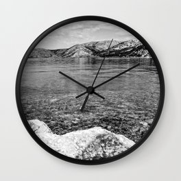Island of Krk black and white Wall Clock
