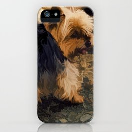 Cute Little Yorkie   - Yorkshire Terrier Dog iPhone Case