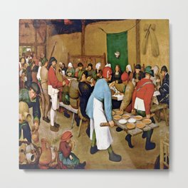 Pieter Bruegel the Elder Peasant Wedding Metal Print