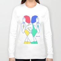 girls Long Sleeve T-shirts featuring Girls by afrancesado