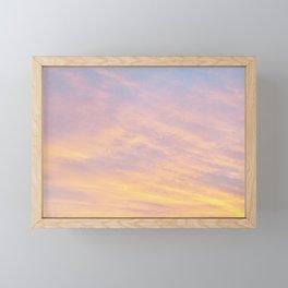 Blue Rose Yellow Sunrise Framed Mini Art Print