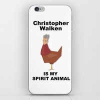 christopher walken iPhone & iPod Skins featuring Christopher Walken is my Spirit Animal by Mr. Child
