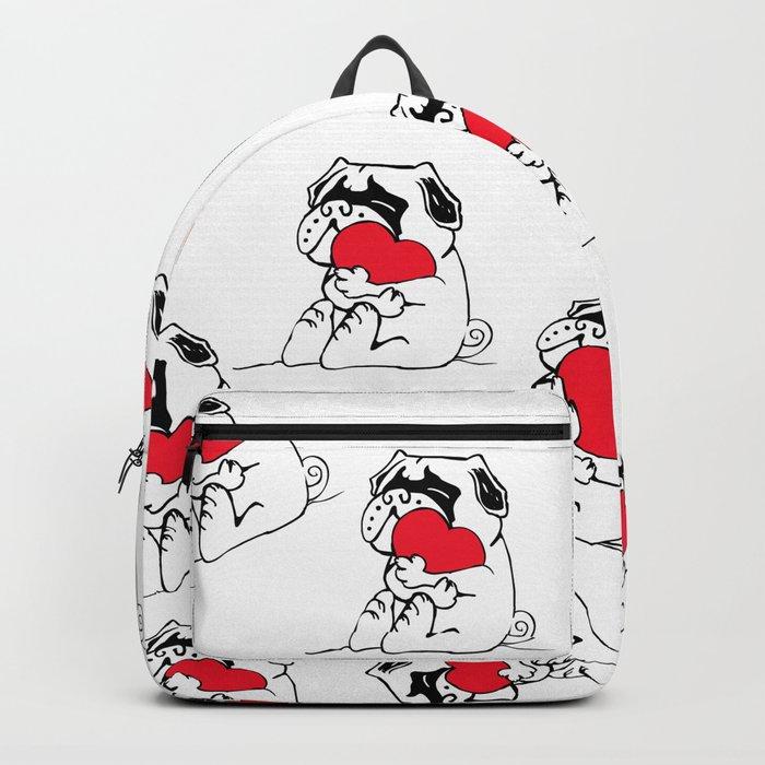 Pug Heart Backpack