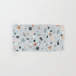 Terrazzo Stone Confetti blue Hand & Bath Towel