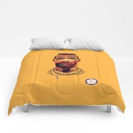 Lucas Radebe Portrait - Leeds United Legend Comforters