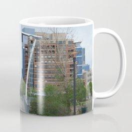 Downtown Denver Bridge and Construction Coffee Mug