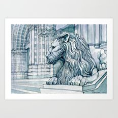 The Lion of S. Lorenzo Genoa Art Print