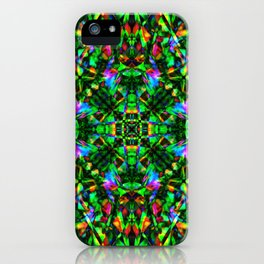 Green Mandala Pattern iPhone Case