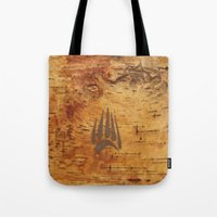 birch Tote Bags featuring Birch by Shaun Hedican