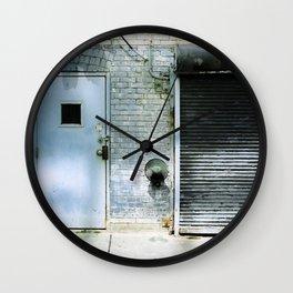 Blue Street Abstract 3 Wall Clock
