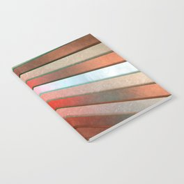 Chromatic Fan - Copper, Red and Turquoise Notebook