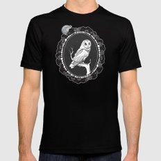 Night Owl Oval Black MEDIUM Mens Fitted Tee