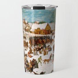 christmass winter village Travel Mug