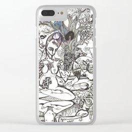 Bison Yogini ~ Fertility Clear iPhone Case