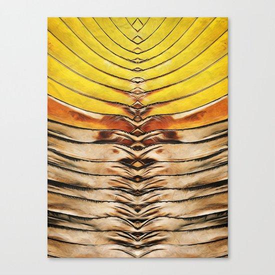 Palm Frond Leaf Macro Canvas Print
