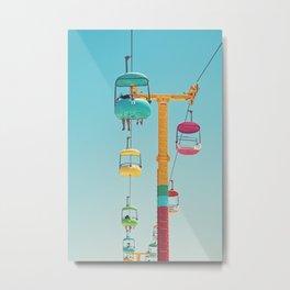 Gondolas - Santa Cruz, California Metal Print