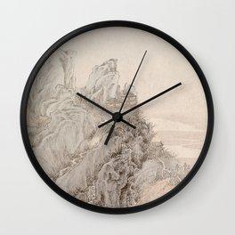 White Crane Mountain Wall Clock