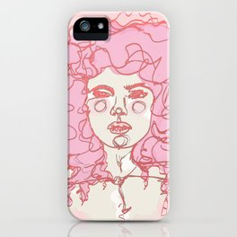 Pinky Pink Curls iPhone Case