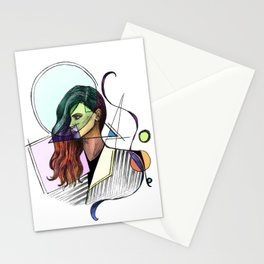 Modern Woman Stationery Cards
