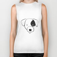 jack russell Biker Tanks featuring Jack Russell by anabelledubois