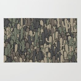 Camouflage cactuses Rug
