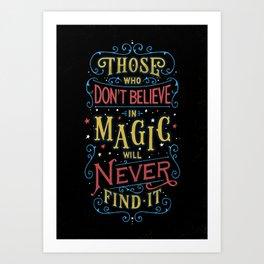 Magic – Roald Dahl Quote Art Print