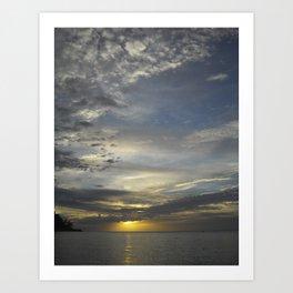 Sunset Koh Phangan Thailand Art Print