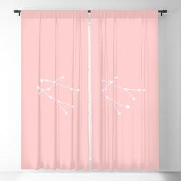 Gemini Star Sign Soft Pink Blackout Curtain