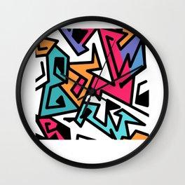 Grafitti Art Pattern Graffiti Designer Gift Wall Clock