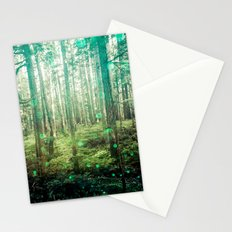 Magical Green Forest Stationery Cards
