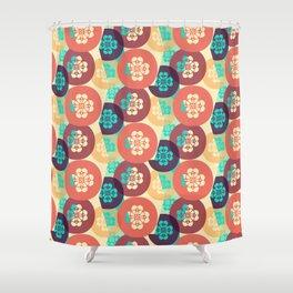 Japanese Kimono Floral Shower Curtain
