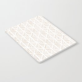Abstract Leaf Pattern in Tan Notebook