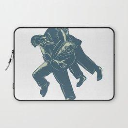 Judo Scratchboard Laptop Sleeve