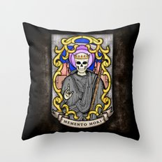 Necromancer Stained Glass Emblem Throw Pillow