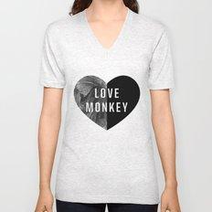 Love Monkey Unisex V-Neck
